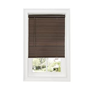 "Achim Home Furnishings DSG236MH06 Cordless GII Deluxe Sundown 1"" Room Darkening Mini Blind, Mahogany, 36"" x 64"""