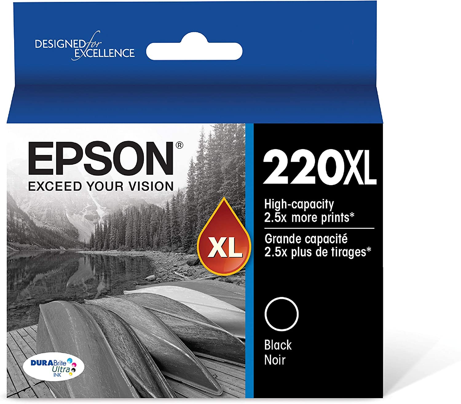 Epson T220XL120-S DURA Ultra Black High Capacity Cartridge Ink