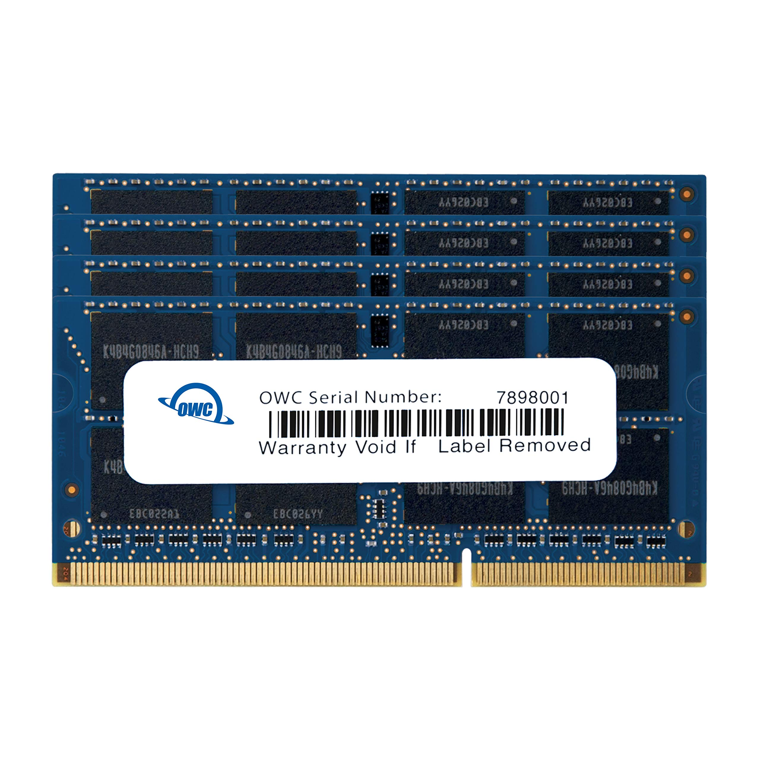 Memoria Ram 32GB (4X8GB) DDR3 1600MHZ PC3-12800 SODIMM OWC