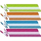 PEARL Wäschklammer: Wäscheklammern mit Soft-Grip, 200 Stück, in 4 Farben (Wäscheklammern Sets)