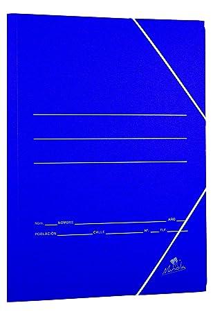 Mariola 944818 - Carpeta de cartón con solapas, color azul: Amazon.es: Oficina y papelería