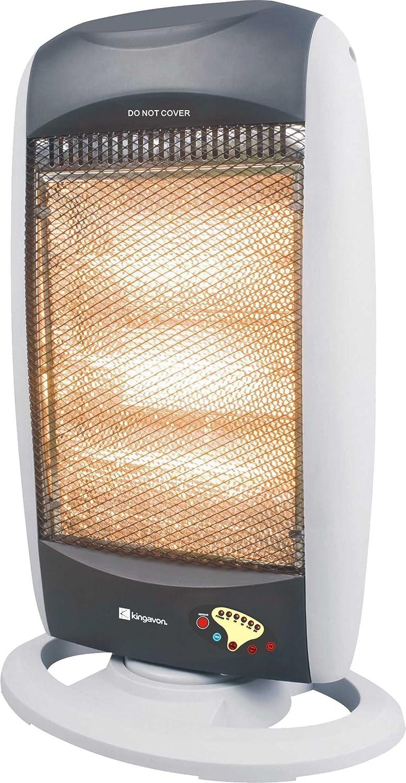 Kingavon BB-HH201 1200W Oscillating Halogen Heater with Remote Control - white/black ST-HA-BB-HH201