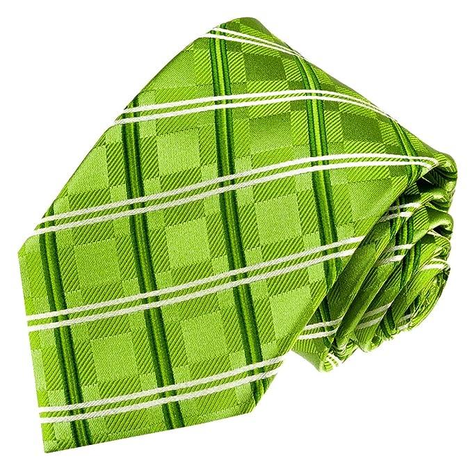 para hombre Verde Verde Manzana Corbata Cuadrados Lorenzo Cana