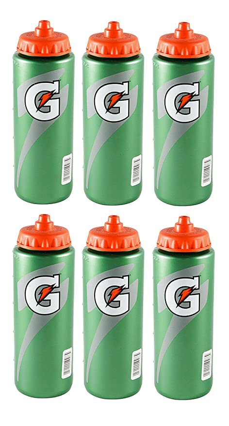 dfacfcf3a9 Image Unavailable. Image not available for. Color: Set of 6 Gatorade  Leakproof Green Orange Sport Squeeze Water Bottle 20 Oz