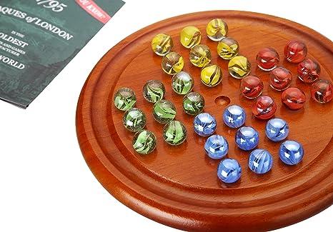 Solitario - Juego de tablero de madera solitario - Jaques of London: Amazon.es: Juguetes y juegos