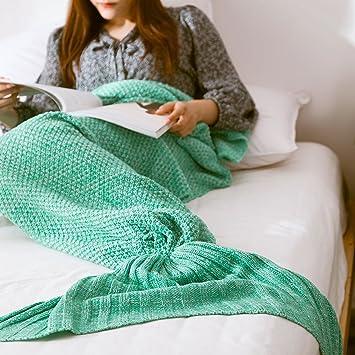 Cola de sirena mantas sofá manta suave y cálida mano ...