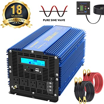 VOLTWORKS 3000 Watt Pure Sine Wave Power Inverter