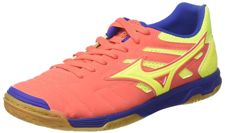 Mizuno Herren Sala Classic 2 in Futsalschuhe  44.5 EU|Mehrfarbig (Hotcoralsafetyyellowsurftheweb)