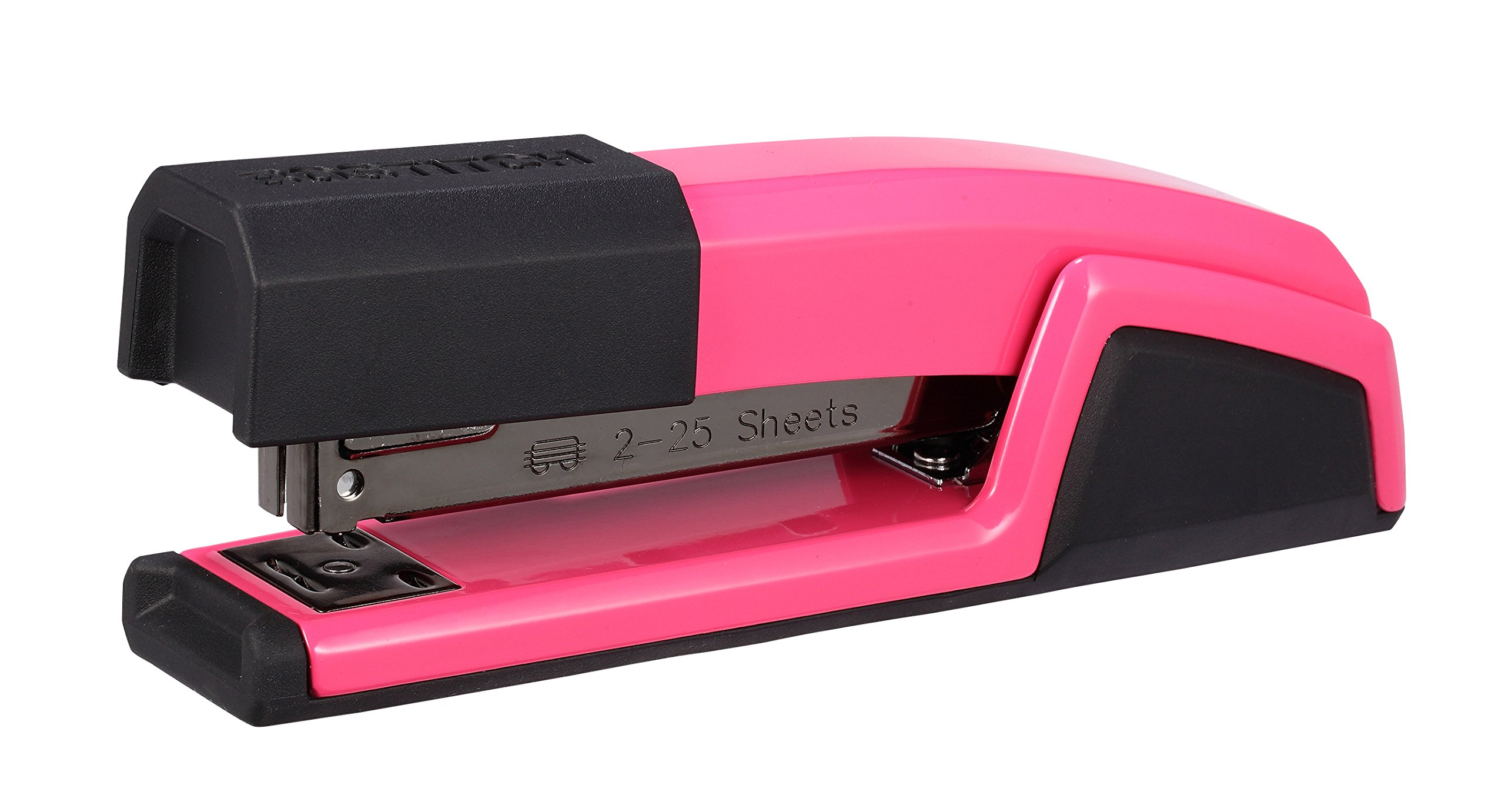 Bostitch Epic All Metal 3 in 1 Stapler with Integrated Remover & Staple Storage, Pink (B777-PINK) by Bostitch Office