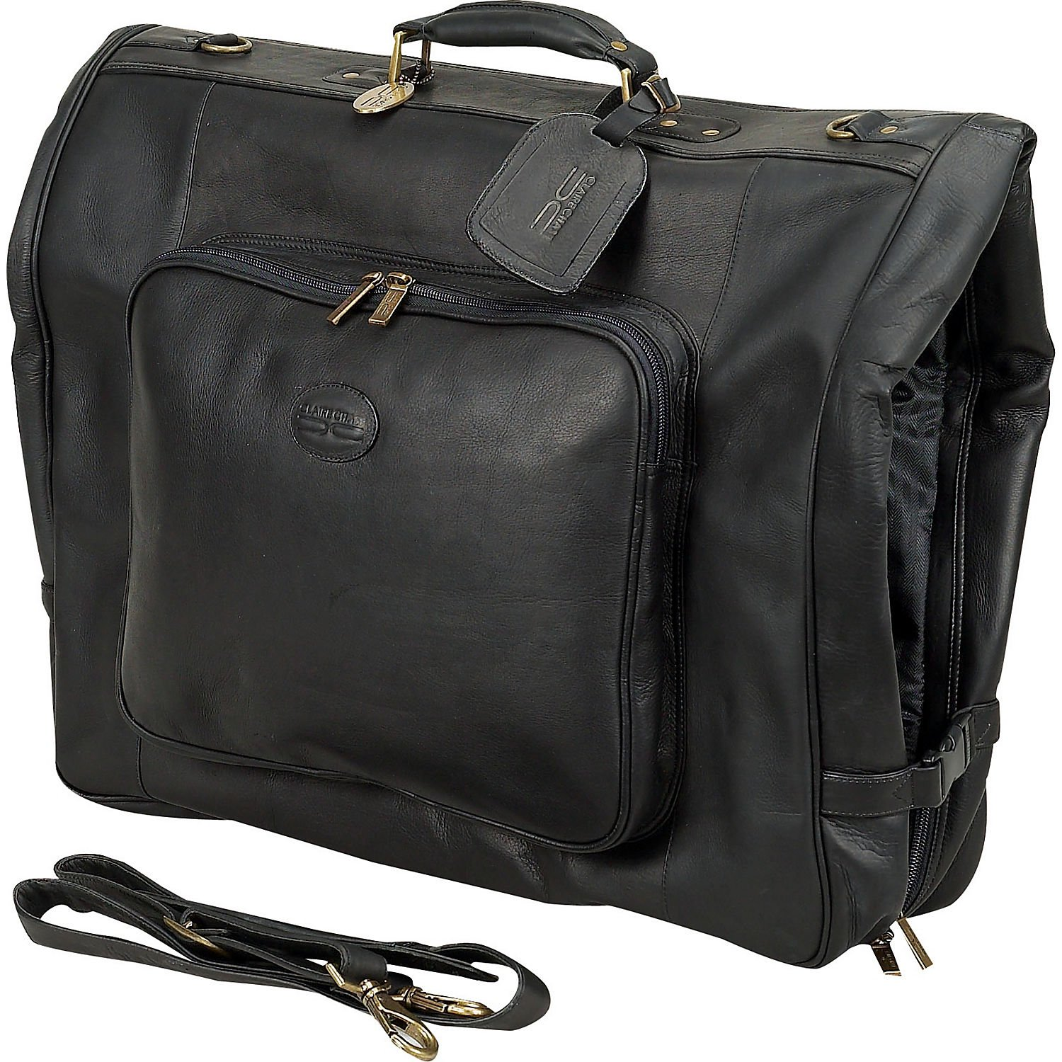 Amazon.com: Claire Chase Classic Leather Garment Bag (Negro ...