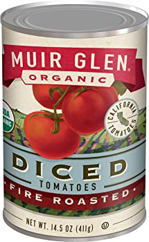 12-Pack Muir Glen Organic Diced Tomatoes, Fire Roasted, 14.5 oz