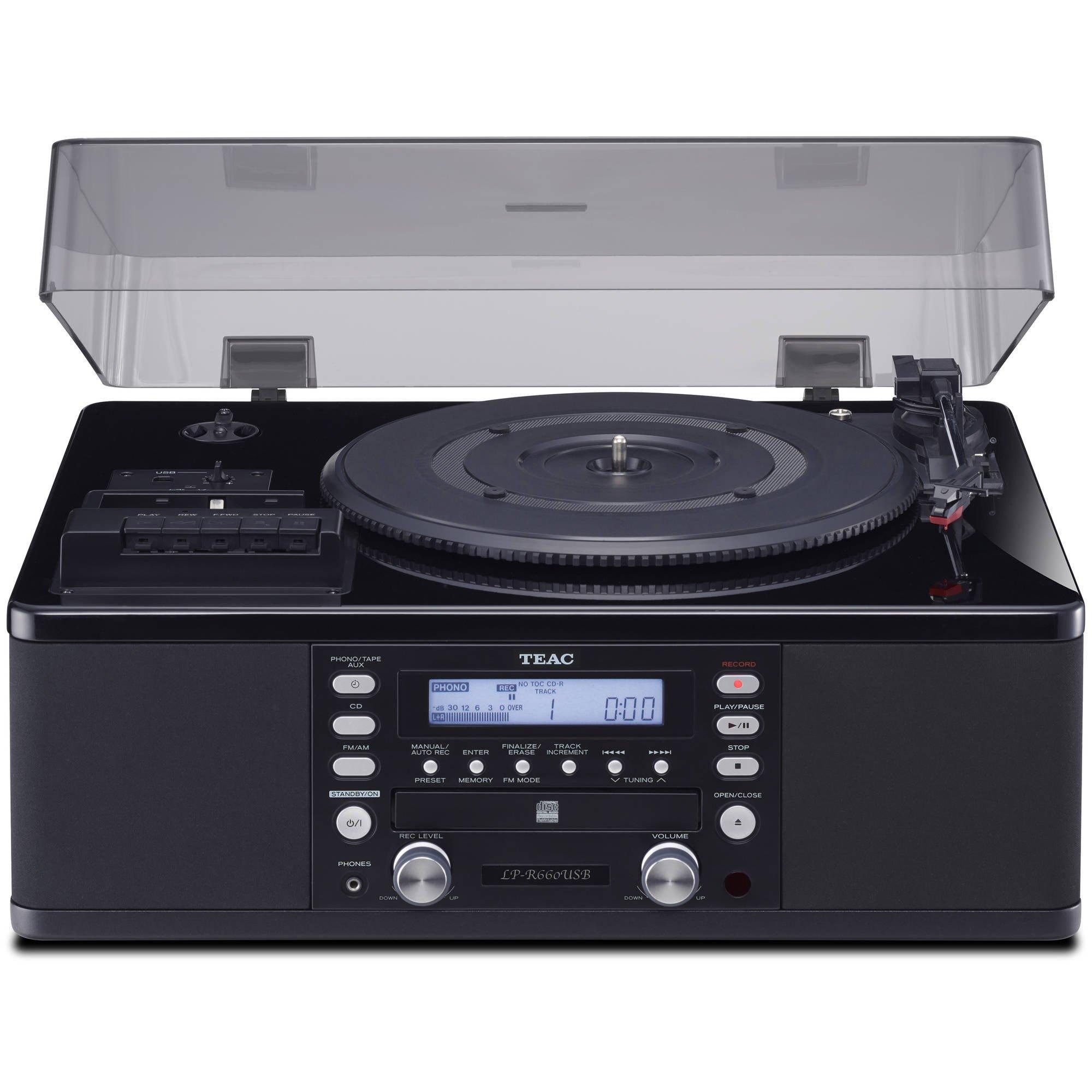Teac LPR660USBPB LP-Cassette to CD Recorder/USB Home Theater Receiver, Black by Teac