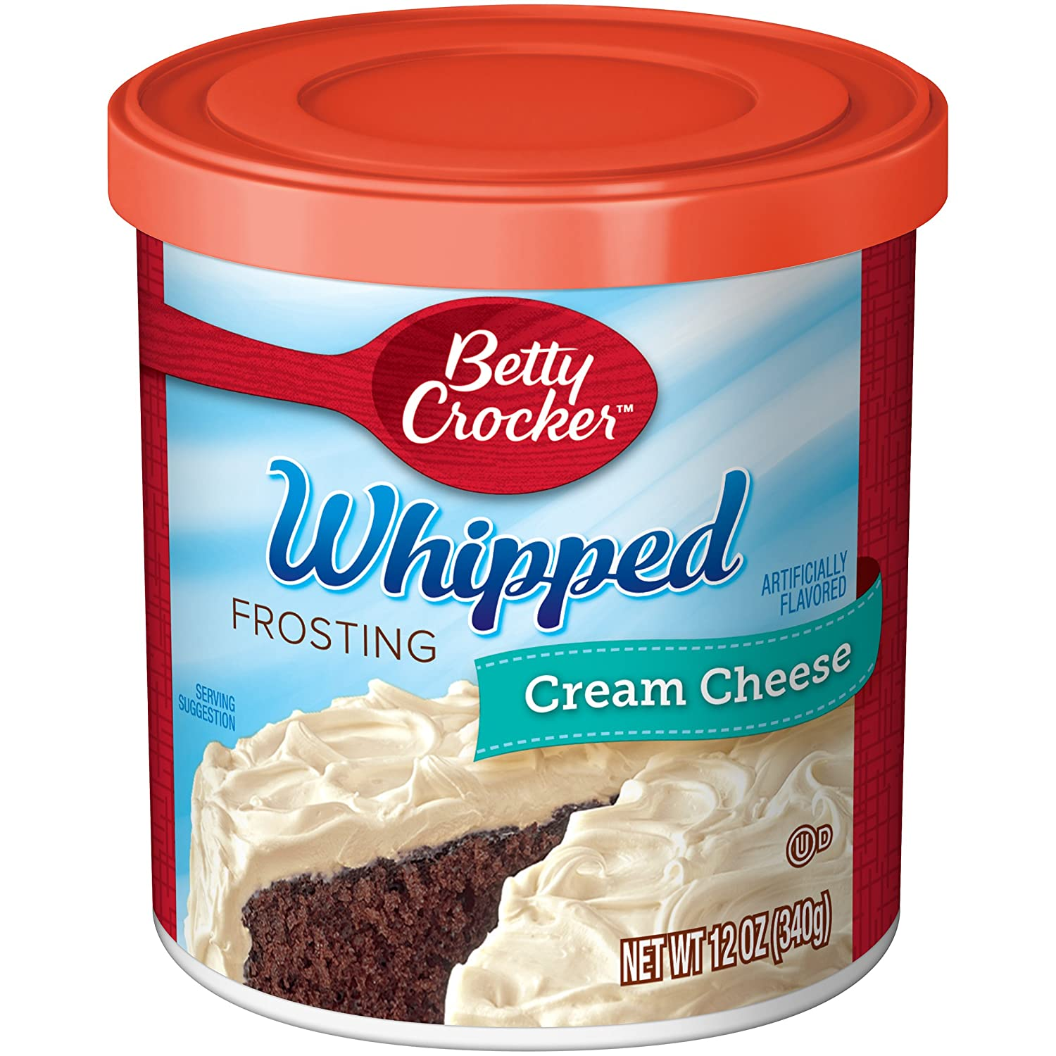 Betty Crocker Whipped Frosting, Cream Cheese, 12 oz Canister