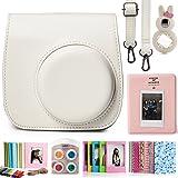 CAIUL Fujifilm Instax Mini 8 8+ 9 Instant Film Camera Accessories Bundles, White II (7 Items)