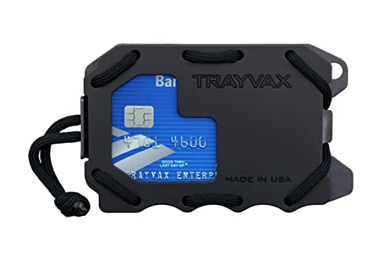 0da9e7c82803 Trayvax Original 2.0 Metal Wallet (Black) at Amazon Men s Clothing ...