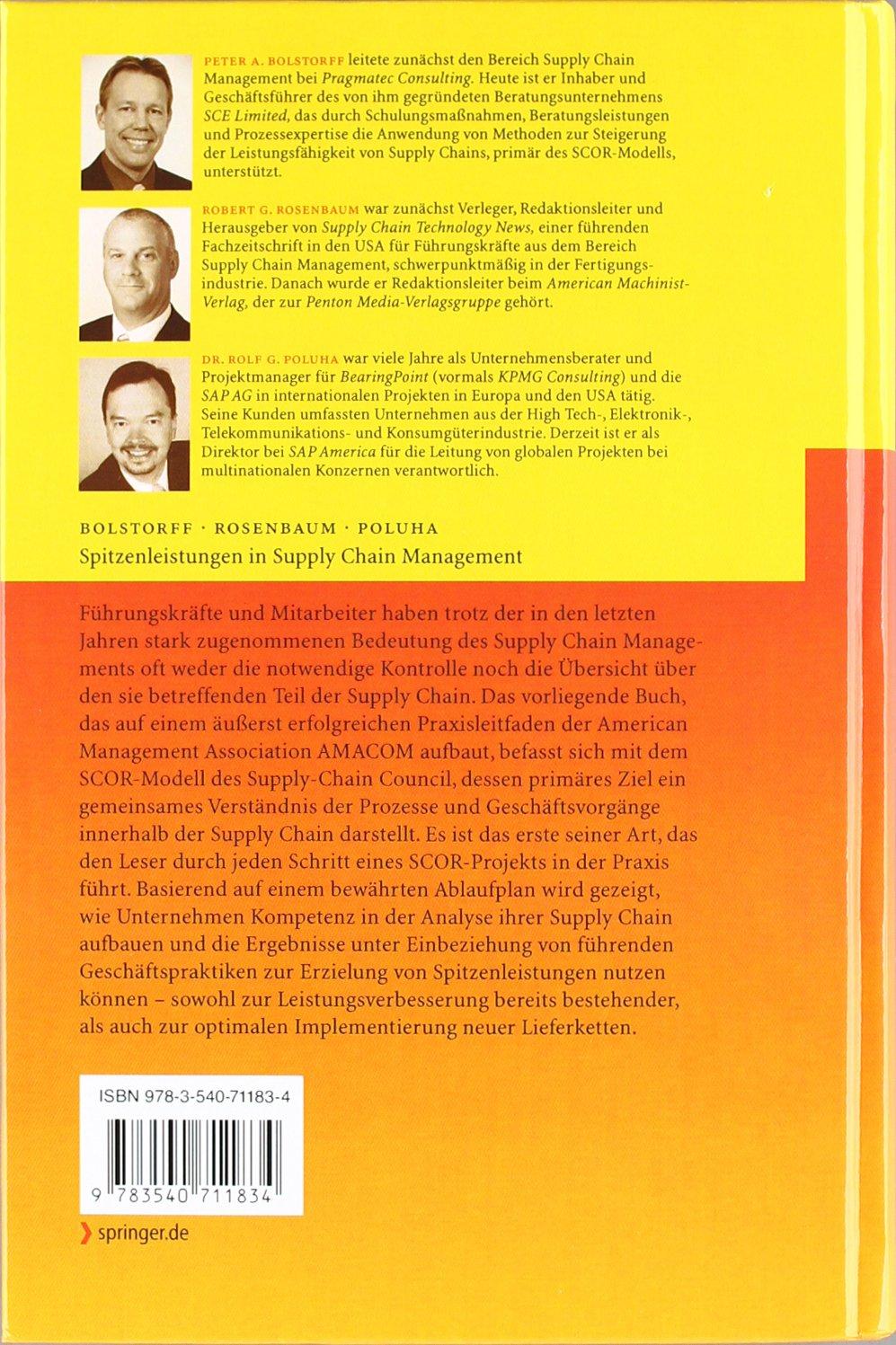 Spitzenleistungen Im Supply Chain Management: Ein Praxishandbuch zur Optimierung mit SCOR (German Edition) by Springer