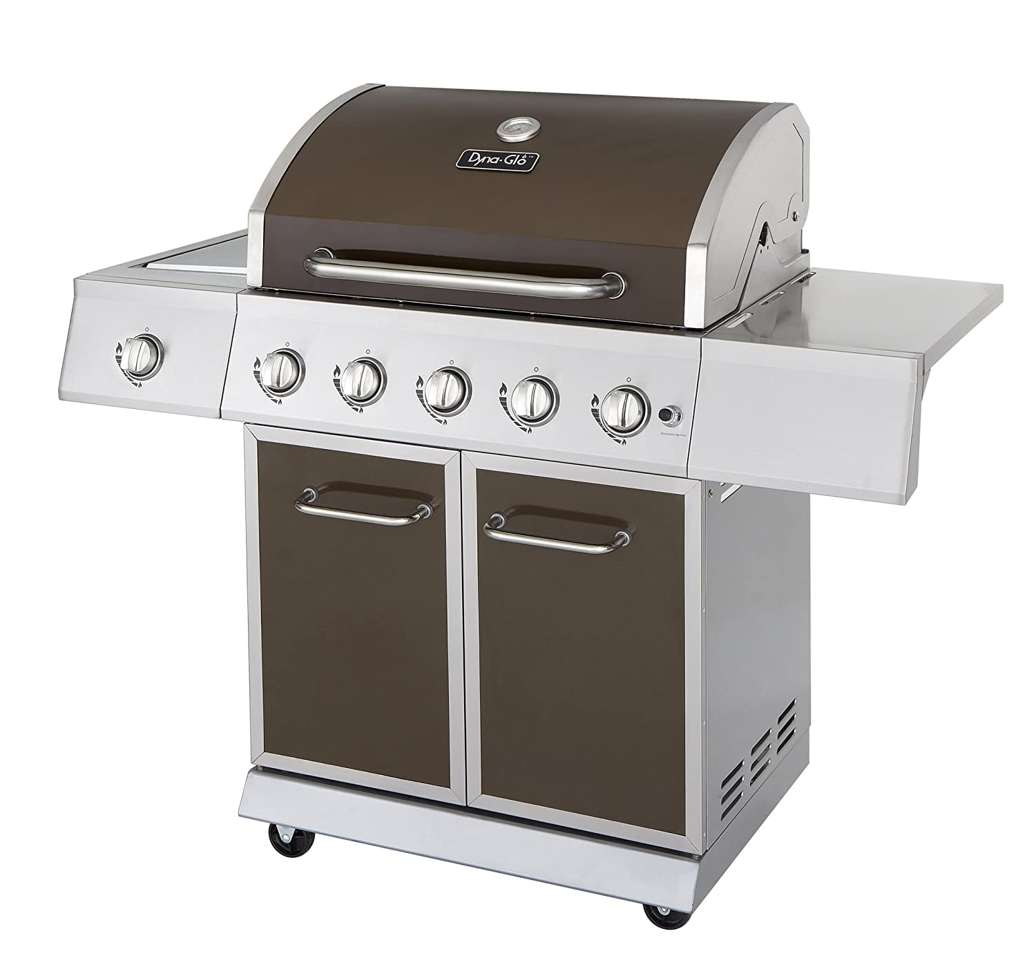 Amazon.com: Dyna-Glo DGE Series Propane Grill, 5 Burner, Bronze: Patio, Lawn & Garden