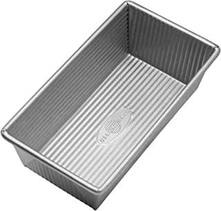 product image for USA Pan Bakeware Aluminized Steel Loaf Pan, 1 Pound, Silver