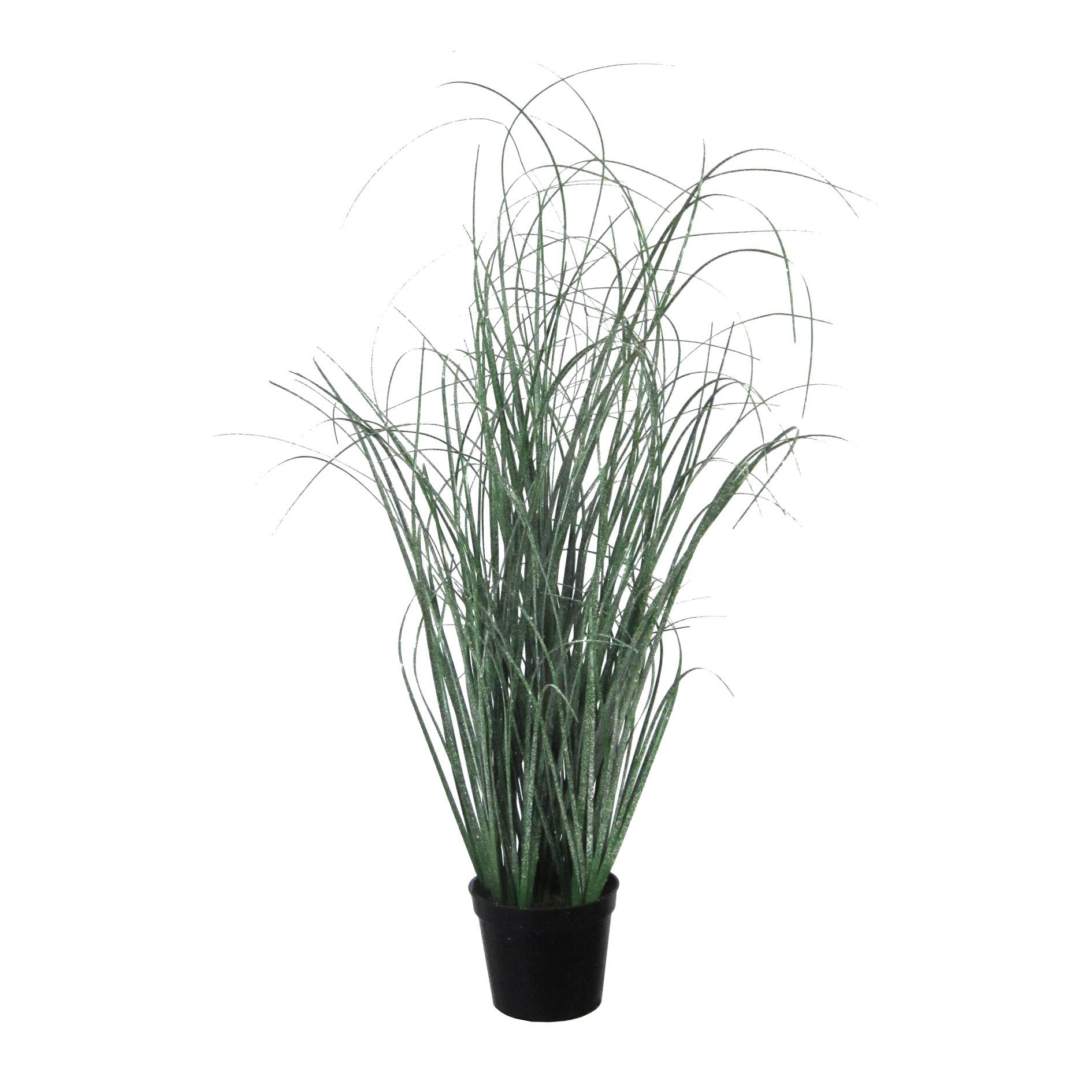 Deutschmade Artificial Plant, Fake Grass Bush including black Pot, 20''