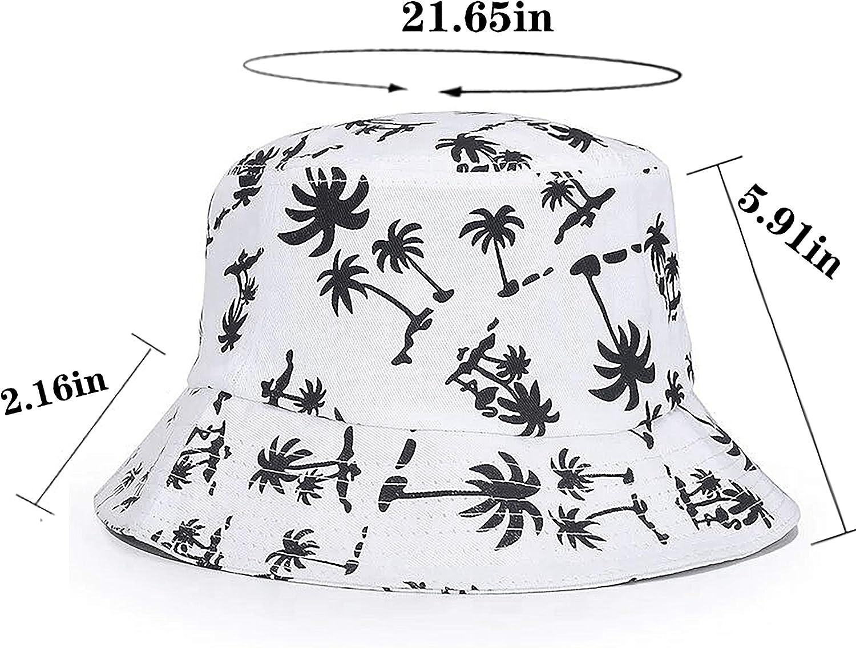 FISHSHOP Bucket Hats Foldable Beach Sun Hats Unisex Fisherman Hats for Women Men 56-58cm