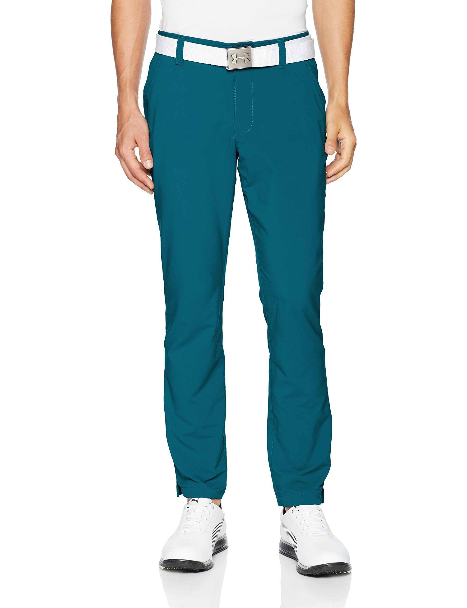 Under Armour Men's Match Play Golf Tapered Pants, Techno Teal (489)/Techno Teal, 30/30