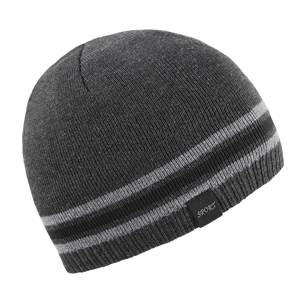 cde865a34c5 OMECHY Mens Winter Beanie Hat Warm Cuff Toboggan Knit Ski Skull Cap ...