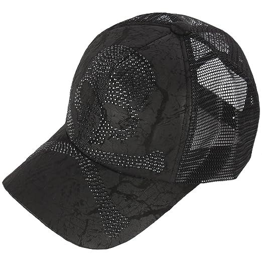 2ea6b512 RaOn M65 Black Gold Silver Cubic Stud Metal Skull Club Punk Mesh Hat  Trucker Ball Cap