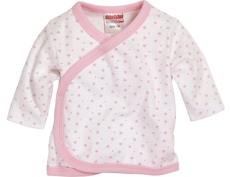 Schnizler Unisex Baby Wrap-Around Shirt Long Sleeve Stars Allover Shirt Blue (White/Blue) 800204