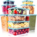 SHOMOTE 10 Pack Food Storage Containers with Lids Airtight, Stackable Kitchen Freezer Containers for Food BPA Free, Plastic L