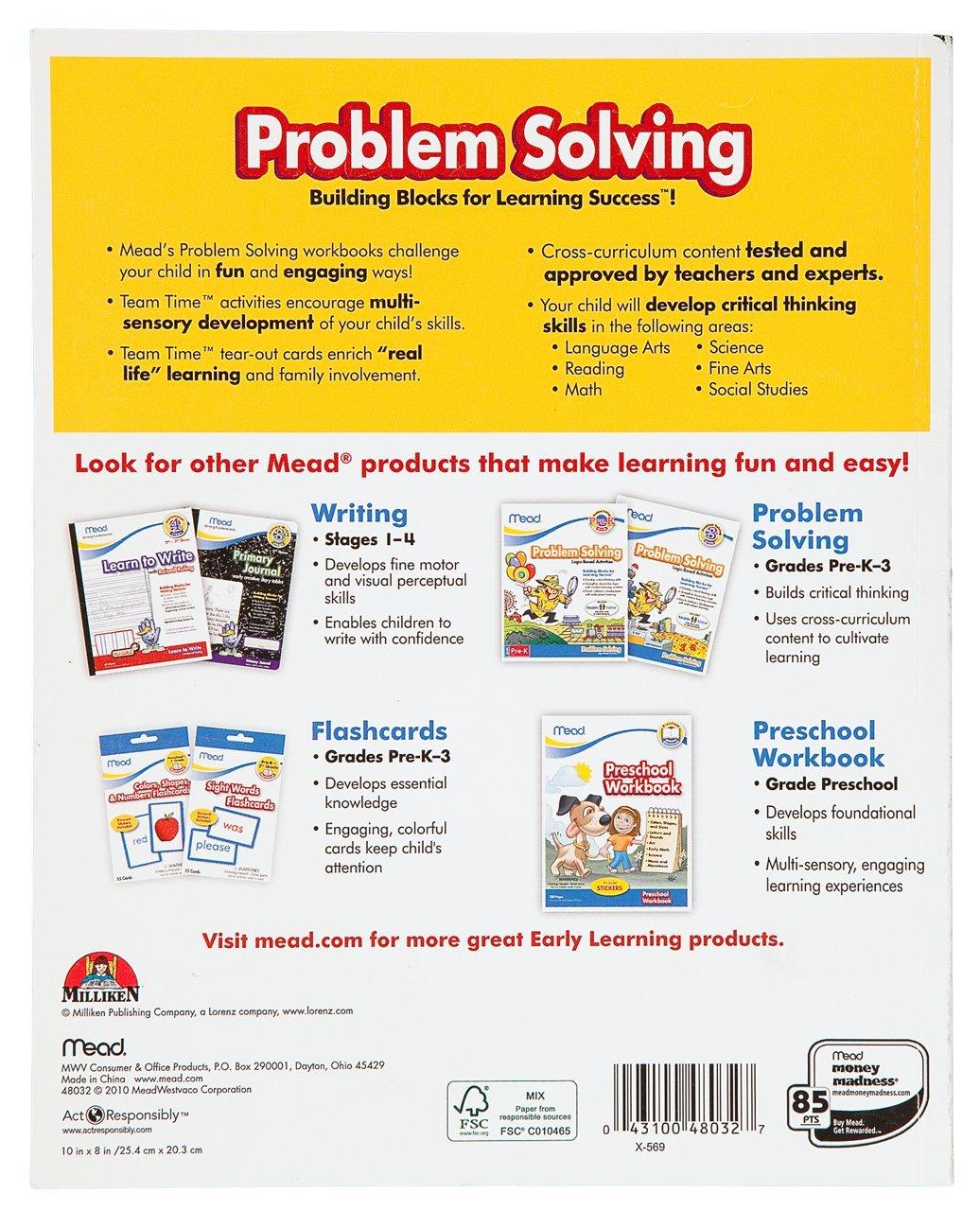 Workbooks developing spatial thinking workbook : Amazon.com : Mead 3rd Grade Problem Solving Workbook, 10 x 8 ...