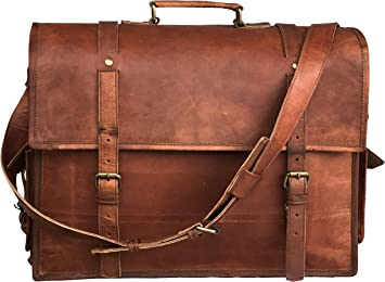 Leather Messenger Bag| Leather Briefcase Bag| Leather