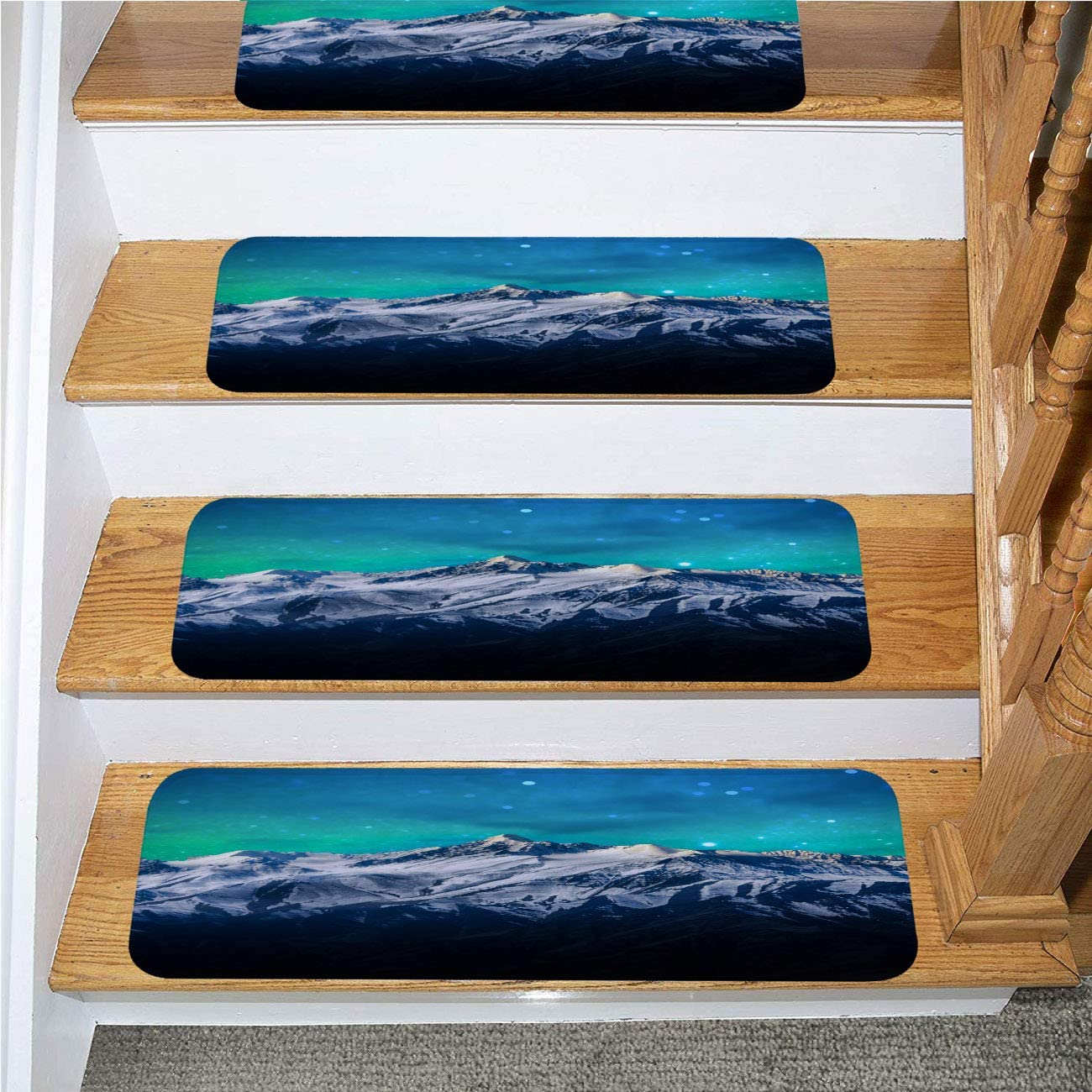 Birthday Stair Mat,Happy Birthday 25 Year Greeting Card Poster Color,for Outside and Indoor Stairs,13-Pack//8.5x27.5in