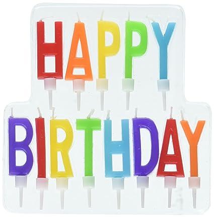 Amscan International - 170333 feliz cumpleaños carta vela de ...