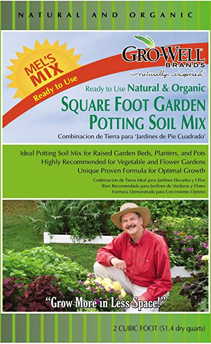 Gentil Melu0027s Mix 33012 12 Bag Square Foot Garden Potting Soil Mix, 2 Cubic Feet