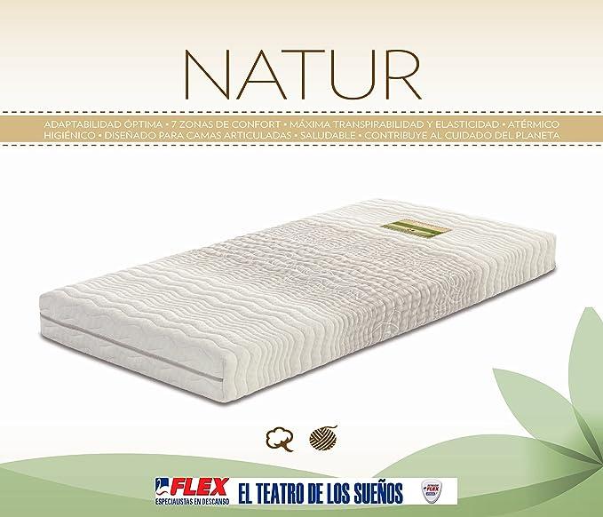 Dorwin 2454140031 - colchón de Latex enfundado Natur talalay Art gem 90x182 cm: Amazon.es: Hogar