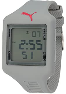 PUMA PU910791008 - Reloj digital de cuarzo unisex con correa de plástico, color gris