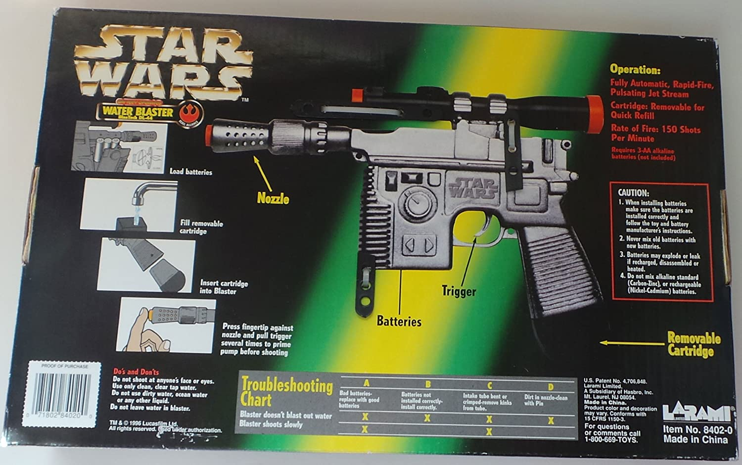 Star Wars Power of the Force Battery Operated Water Blaster Kenner SG/_B000MFDG1I/_US