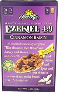 Food For Life, Cereal Ezekiel 4:9 Cinnamon Raisin Organic, 16 Ounce