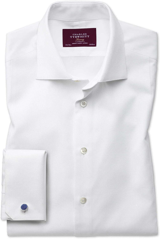 Camisa de Etiqueta Blanca de piqué Extra Slim fit con Pechera: Amazon.es: Ropa y accesorios