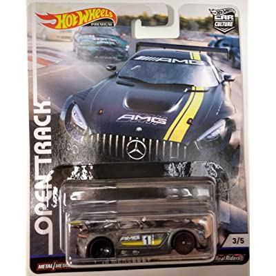Hot Wheels '16 Mercedes-AMG GT3 #3/5 Premium 2020 Real Riders Pop Culture Open Track Series 1:64 Scale Collectible Die Cast Model Car: Toys & Games