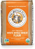 King Arthur Flour 100%s Organic Unbleached White Whole Wheat Flour, 5 Pound