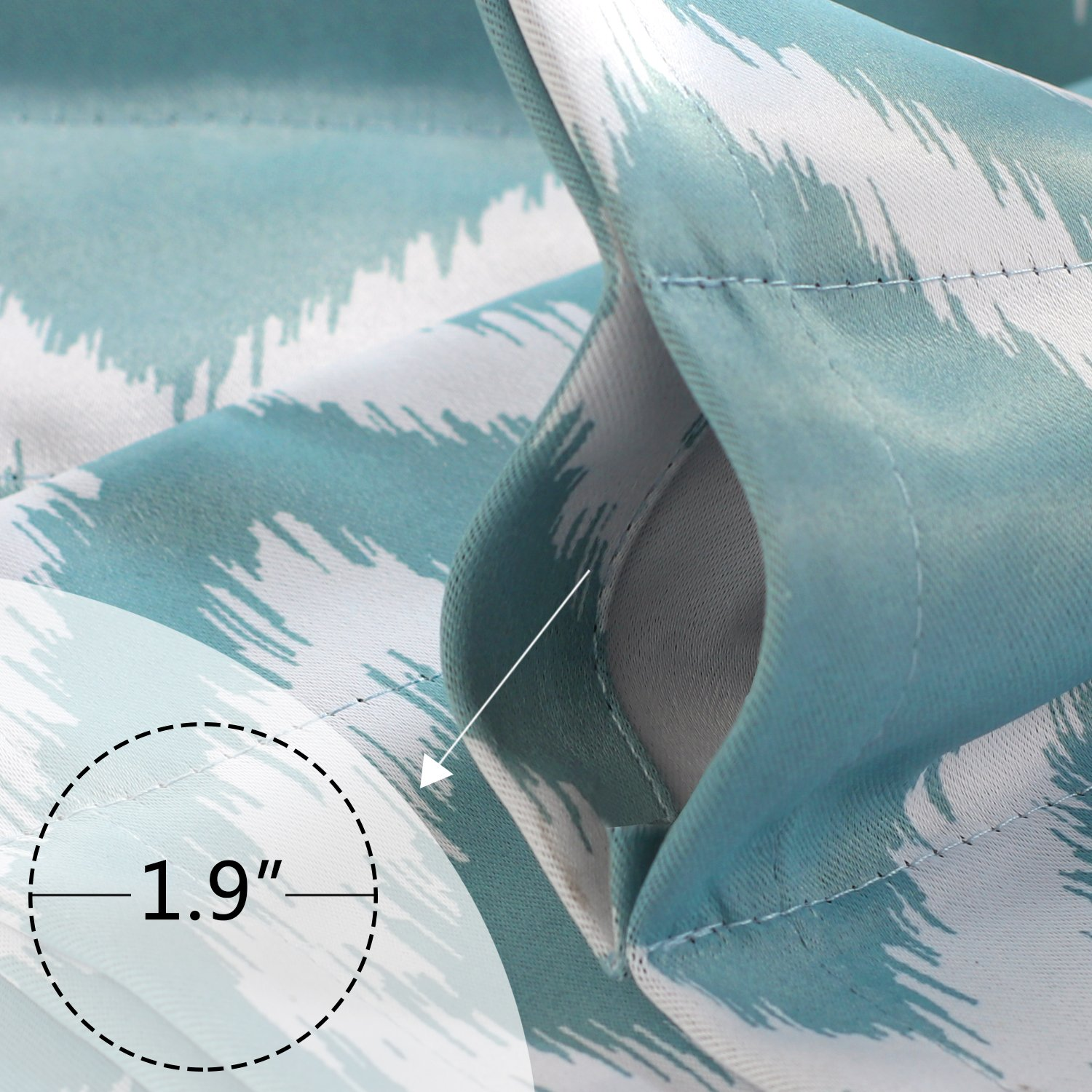 52 x 63 Full Blackout Thermal Insulated Curtain Panels Thermal Insulated Energy Saving Window Curtain Navy Star Curtains for Boys Room Grommet Star Curtains for Kids Room 2 Panels Flamingo P Inch
