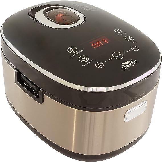 SuperChef Robot de Cocina Inteligente CookFast Cf110, 14 programas de Cocina, Pantalla táctil, Bol Antiadherente con Asas, Hervir, Vapor, freír, Horno, Pasteles, guisar.: Amazon.es