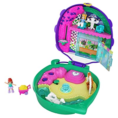 Polly Pocket Pocket World Lil' Ladybug Garden Compact, 2 Micro Dolls, Accessories: Toys & Games