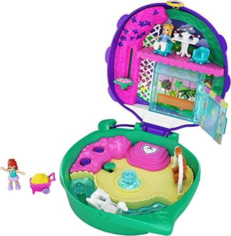 Polly Pocket Pocket World Surf /'N/' Sandventure Compact Access 2 Micro Dolls