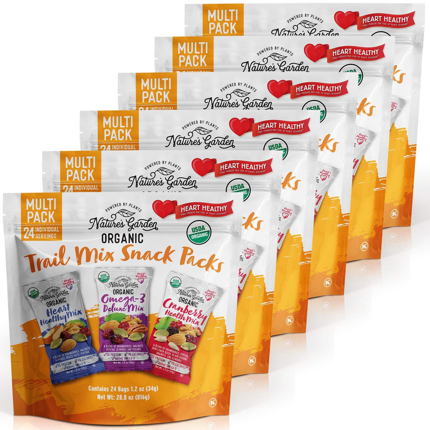 Nature's Garden Organic Trail Mix Snack Packs - 28.8 oz. (Pack of 6)