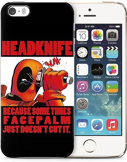 Deadpool Funny Comics Faceknife Citation d'horreur en caoutchouc ...