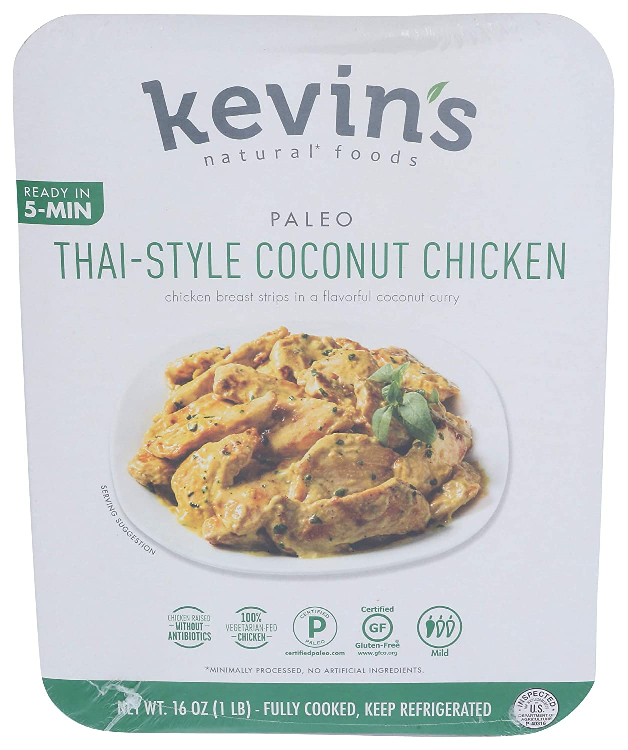 Kevin's Natural Foods, Thai-Style Coconut Chicken Entree, 16 Ounces