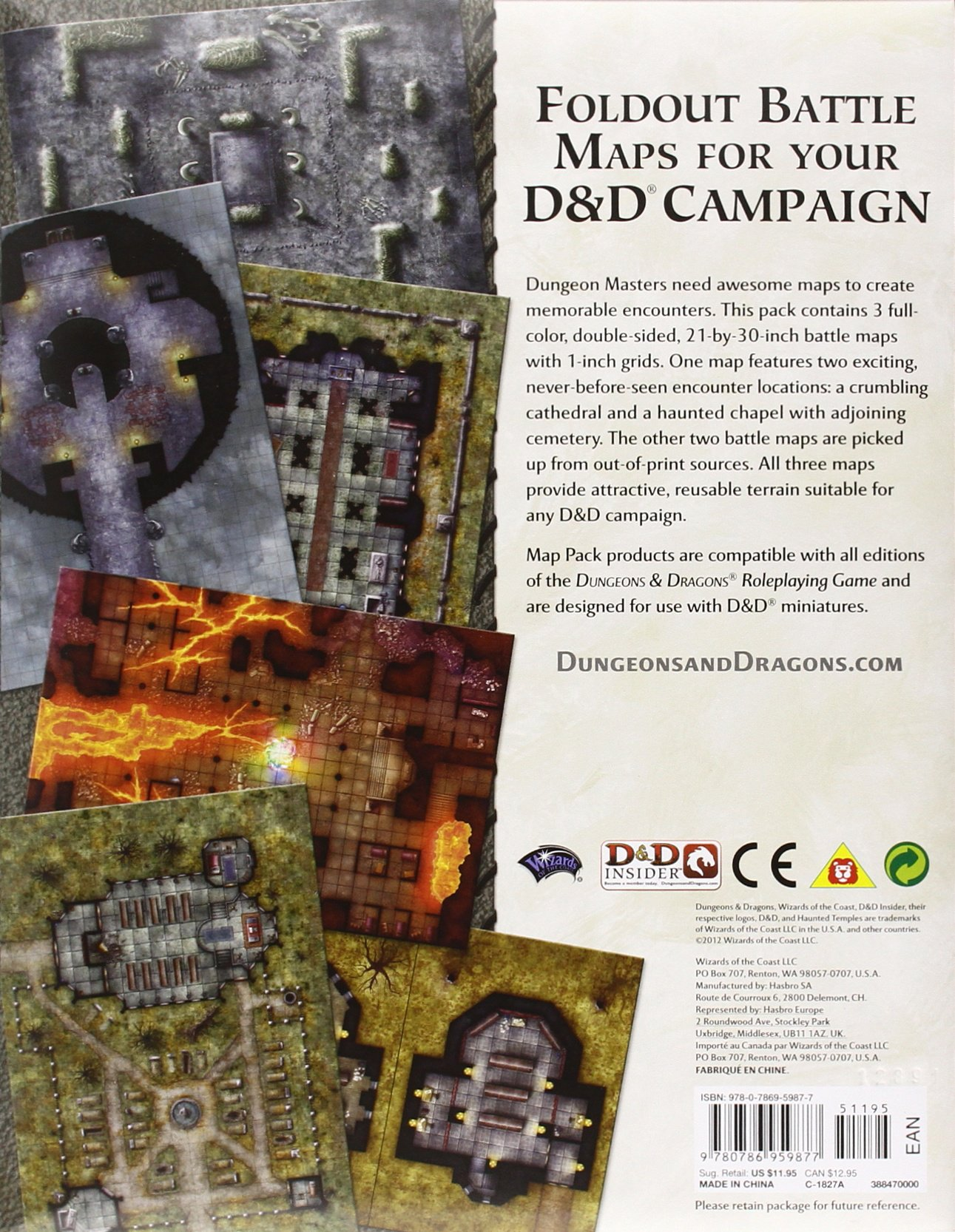 Haunted Temples Map Pack A 4th Edition Dungeons Dragons Accessory