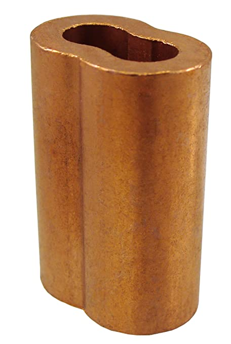 25 Piece Loos Cableware ST2-5 Copper Crimping Stop Sleeve Set for 5//32 Diameter Wire Rope